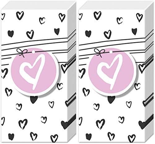 20 Taschentücher (2x10) Herzen für die Liebe | Hochzeit