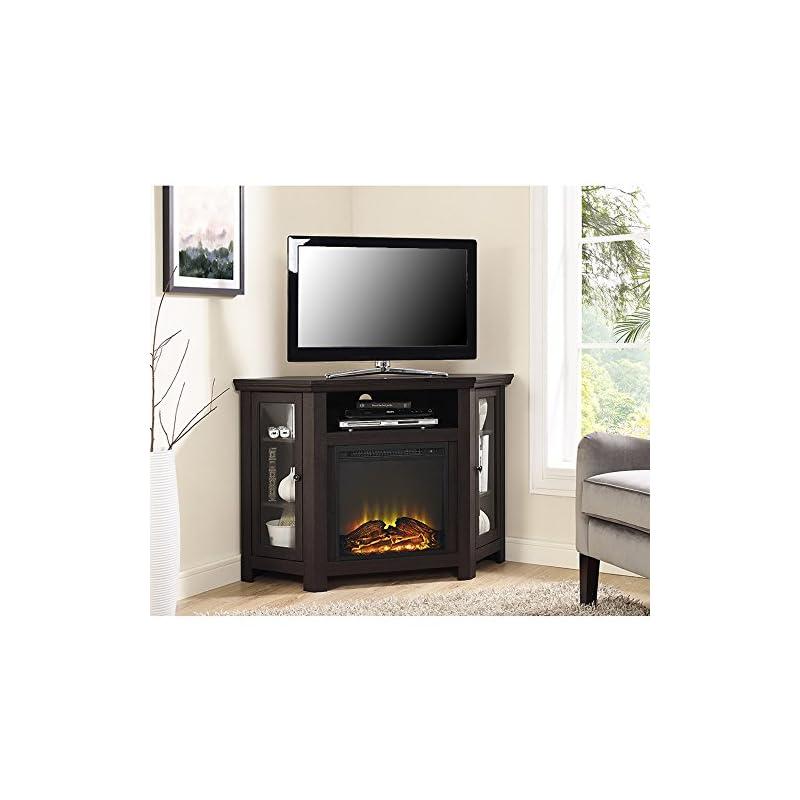 corner fireplace TV stand