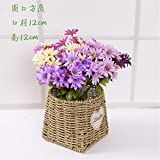 EXDJ Straw Basket Hand-woven rattan wicker flower Pot Home decoration products,Y