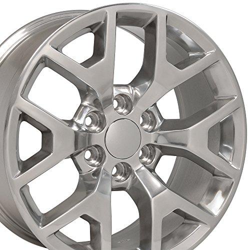 OE Wheels 20 Inch Fits Chevy Silverado Tahoe GMC Sierra Yukon Cadillac Escalade CV92 Polished 20x9 Rim Hollander 5656
