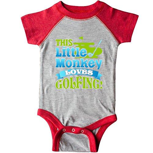 - inktastic - Golfer Childs Golfing Infant Creeper 18 Months Heather and Red 2f64b