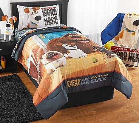 La vida secreta de mascotas doble Comforter y hojas (4 piezas cama en una bolsa) + caseras de cera Melt: Amazon.es: Hogar