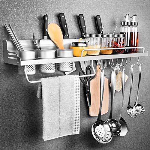 Portacoltelli per Tenere Coltelli Spezie e Altri Utensili da Cucina Zhplay Porta Spezie da Cucina Parete in Acciaio Inox Mensole Cucina da Muro