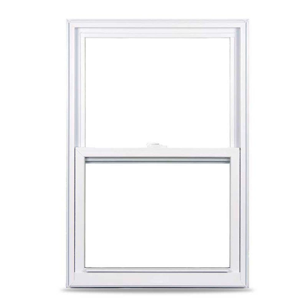 American Craftsman 50 Single Hung Fin Vinyl Windows, 24 in. x 36 in., White, with LowE3 Insulated Glass, Argon Gas and Screen by American Craftsman