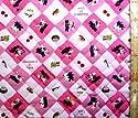 <Qキャラクター・キルティング生地>リサとガスパール(ピンク)#20の商品画像