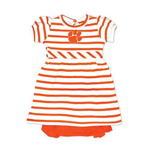 Striped Tiger Mascot (Clemson Tigers NCAA College Newborn Infant Baby Striped Dress (12 Months))