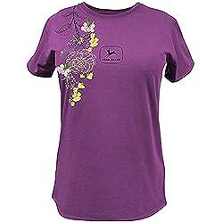 John Deere Western Shirt Womens Embroidered T-Shir