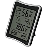 BENGOO Indoor Humidity Monitor Thermometer Digital Hygrometer Monitor with Stand and Large LCD Display Works in...