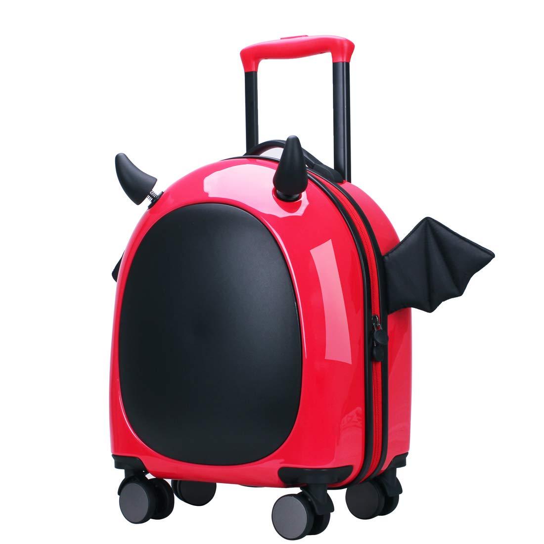 Ginza Travel Little devil Unisex Spinner Kids Luggage 16 Inch