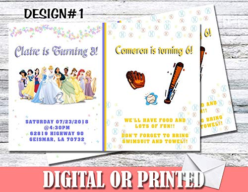 Any Character Theme Personalized Birthday Invitations More Designs Inside! -