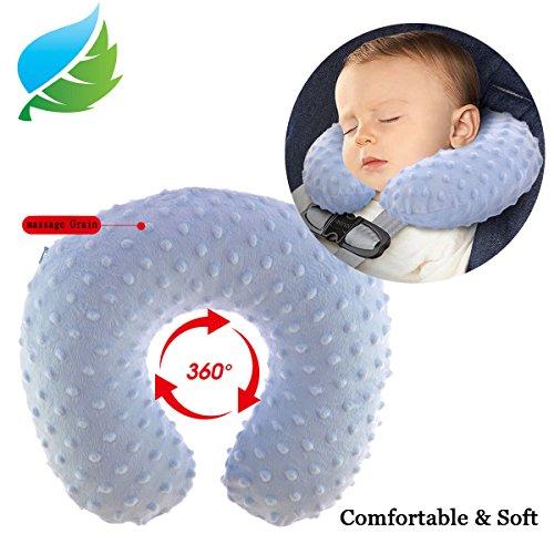 Almohada almohada de viaje cuello inflable bebé afelpado suave velvetón Pequeña (1–4Años