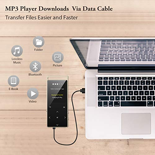 MP3 Player,16GB Bluetooth mp3 Player with FM Radio,Speakers
