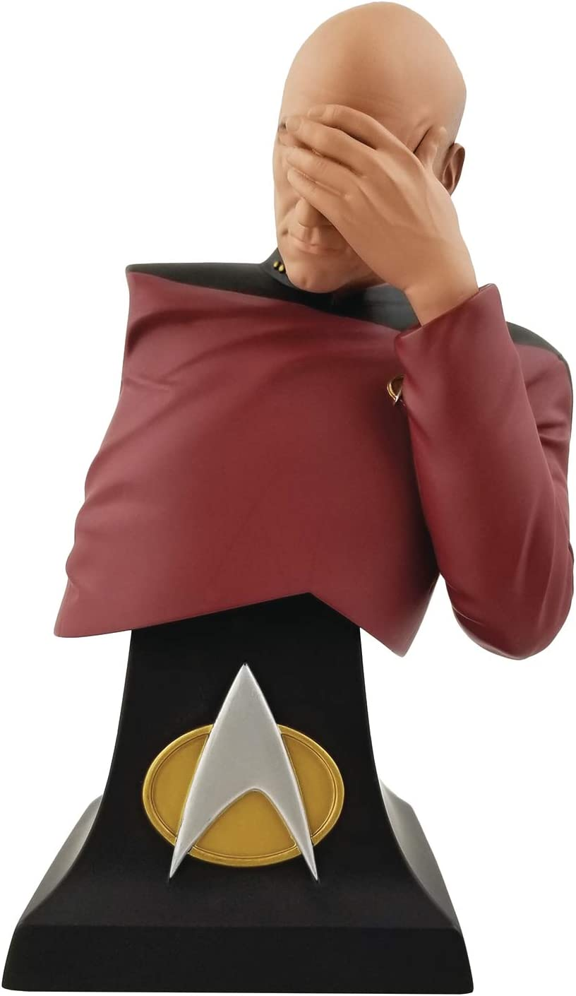 Icon Heroes San Diego Comic-Con 2020 Star Trek The Next Generation: Captain Picard Facepalm Limited Bust, Multicolor