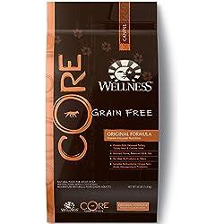 Wellness Core Natural Grain Free Dry Dog Food, Original Turkey & Chicken, 26-Pound Bag
