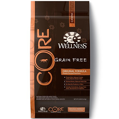 Wellness Core Natural Grain Free Dry Dog Food, Original Turkey & Chicken, 26-Pound ()