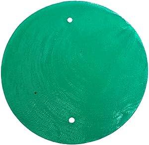 VIE Naturals Capiz Shell Discs with 2 holes - 45 Pcs (Green), 5cm Diameter