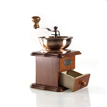 HOUYAZHAN Molinillo de café Foruchoice Estilo Vintage Molinillo de café Especias Máquina de moler a Mano