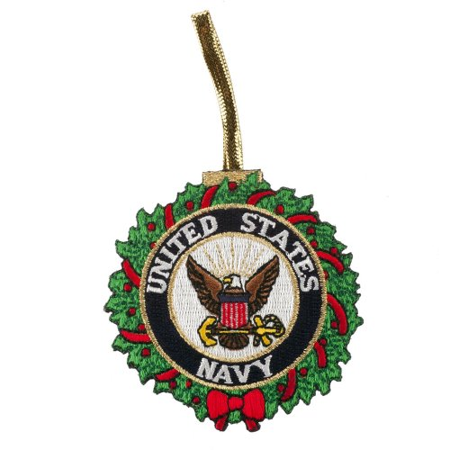 U.S. Armed Forces Embroidered Ornament Medallion - US Navy - Medallion United States Navy