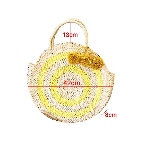 Hair Bag Bag Handbags Handbags Corn Hit Decoration Beach GAOQQ Round Fur Color Ball UqpqtP