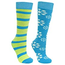 Trespass Childrens/Kids Lori Ski Tube Socks (Pack Of 2)