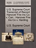 U. S. Supreme Court Transcript of Record Hanover Fire Ins Co V. Carr, , 1270069128