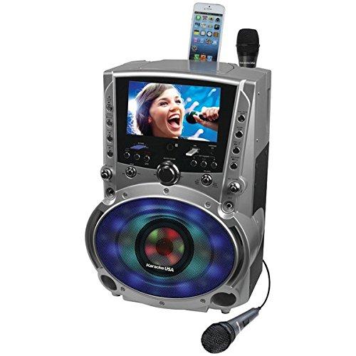 Karaoke USA GF758 DVD/CDG/MP3G Machine with 7'' TFT Color Screen, Record, Bluetooth & LED Sync Lights by Karaoke USA