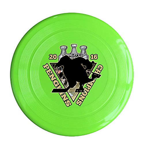LINNA Custom Pittsburgh Champlons 2016 Hockey Logo Outdoor Game Frisbee Game Room KellyGreen