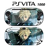 Decorative Video Game Skin Decal Cover Sticker for Sony PlayStation PS Vita (PCH-1000) - FF Cloud