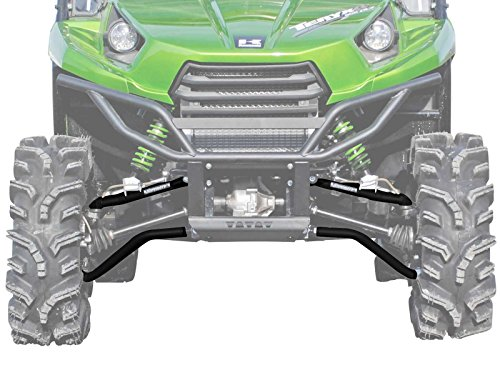 Teryx Body - SuperATV High Clearance Forward Offset Front A-Arms for Kawasaki Teryx/Teryx 4 (See Fitment) - Black