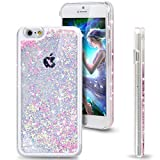 iPhone 5S Case, Little Sky (TM) iPhone 5S Case , Liquid Case for iPhone 5S , Hard Case for iPhone 5S , Fashion Creative Design Flowing Liquid Floating Luxury Bling Glitter Sparkle Love Heart Hard Case for Apple iPhone 5S / iPhone 5 (Love:Pink)