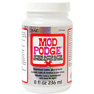 Mod Podge Waterbase Sealer, Glue and Finish (8-Ounce), CS15066 Extreme Glitz