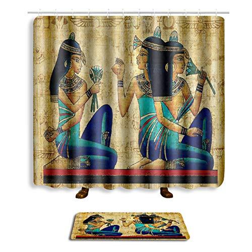 Alfombra de ba/ño Set de 2 Cortina de la Ducha180*180cm,B Zyzmll Conjunto de alfombras de Cortina de Ducha Cortina de ba/ño