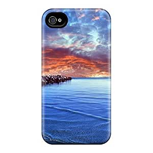 AWU DIYLJF phone case Brand New 4/4s Defender Case For Iphone (baltic Sea)