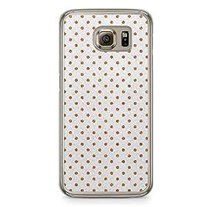 Glitter Samsung Galaxy S6 Transparent Edge Case - Design Gold And Silver Dots