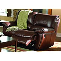 Coaster Home Furnishings 600282 Casual Motion Loveseat, Dark Brown
