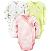 Carter's Baby Boys' 3 Pack Side Snap Bodysuits (Baby)