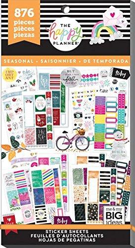 Create 365 Happy Planner Sticker Value Pack, 876 All in Season Me & My Big Ideas Planner