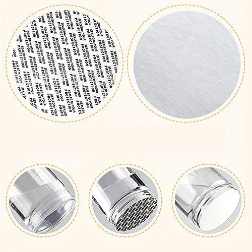 8 tarros de almacenamiento de pl/ástico transparente con tapas de rosca y 2 etiquetas adhesivas organizador redondo para alimentos almacenamiento rellenable productos secos cocina y manualidades
