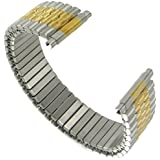 Men's Two Tone Metal Expansion 17-21mm Replacement Watchband