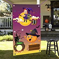 Happy Storm Halloween Toss Game Halloween Party Games for Kids Adults Family Outdoor Party Activities Pumpkin Witch Toss Game with 3 Bean Bag Decorations