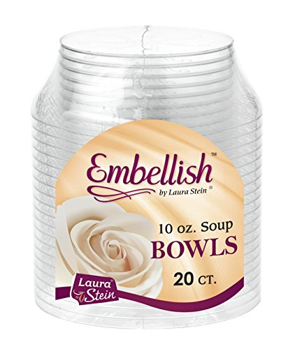 Embellish Hard Plastic 10 Ounce Clear Bowls 20 Count