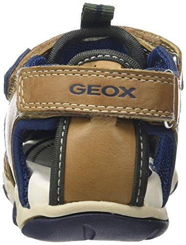Geox B Sandal Agasim Boy B, Botines de Senderismo para Bebés Beige (CARAMEL/NAVYC5GF4)