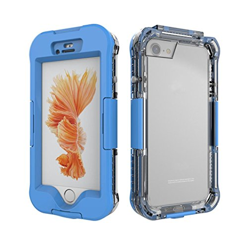 Enjocho New Design For iphone 7 Plus 5.5 Inch Waterproof Dirt Shockproof Phone Protective Case Full Cover (Light Blue) ()