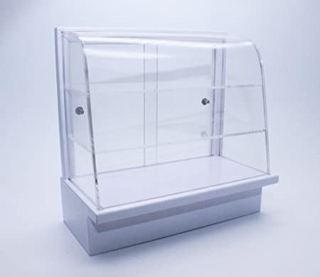 Acrylic Display Bakery Cake Cabinet White Handcraft Dollhouse