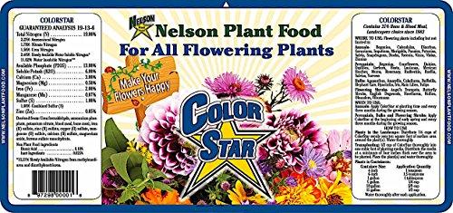 Nelson ColorStar All Flowering Plants Annuals Perennials Bulbs Shrubs Food Indoor Outdoor Granular Fertilizer 19-13-6 (25 LB) - Flowering Plants Shrubs