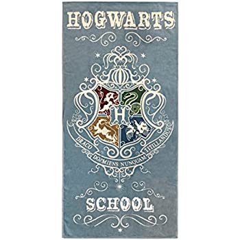 Harry Potter Hogwarts School Kids Bath/Pool/Beach Towel - Featuring The Houses Of Hogwarts - Super Soft & Absorbent Fade Resistant Cotton Towel, ...