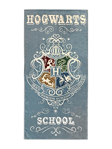 Harry Potter Hogwarts School Super Soft & Absorbent Bath/Pool/Beach Towel, Featuring The Four Houses Of Hogwarts - Fade Resistant Cotton Terry Towel, Measures 28 inch x 58 inch (Official by Jay Franco