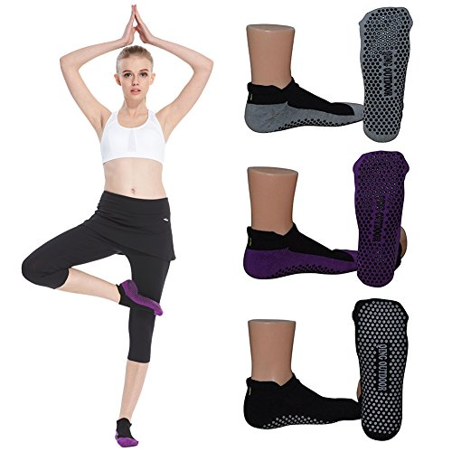 Womens Socks Non Skid Low Cut Yoga Socks Barre Socks for Studio/Hospital/Yoga/Pilates/