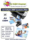 A3 Inkjet OHP Acetate Film 100 micron 25 sheets
