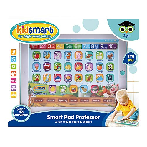 Learning Pad / Fun Tablet with 6 Toddler Learning Games. Touch and Learn Interactive Tablet for Numbers, ABC and Words Learning. Educational Pretend Toy for Boys and Girls - 36 Months to 6 Year Old